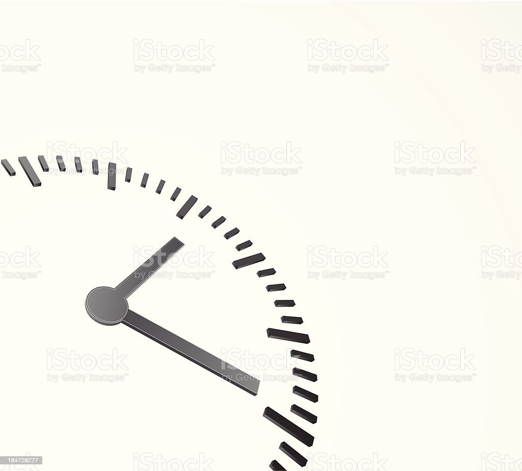 background with clock 3d vector art illustration