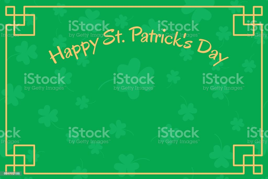 Background with clover leaves vector art illustration