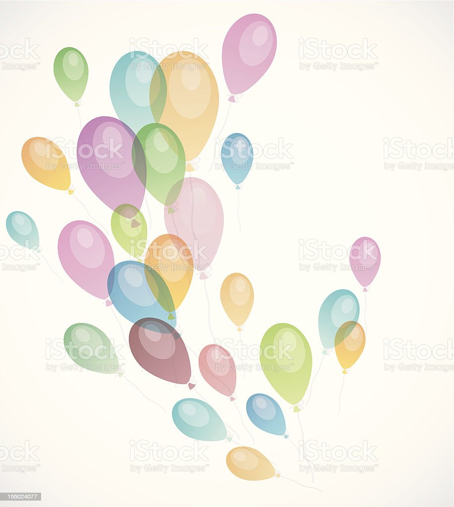 Background with colored balloons royalty-free stock vector art