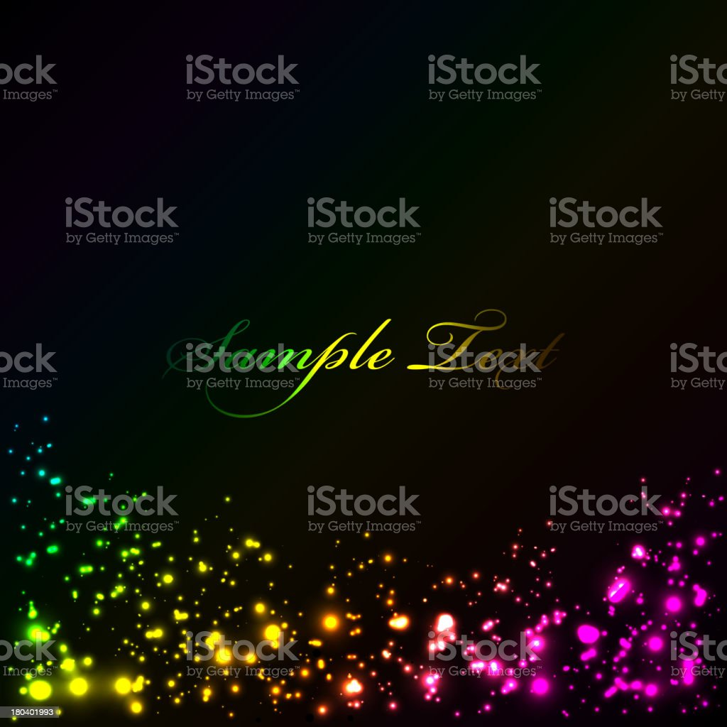 background with colorful sparklers royalty-free stock vector art