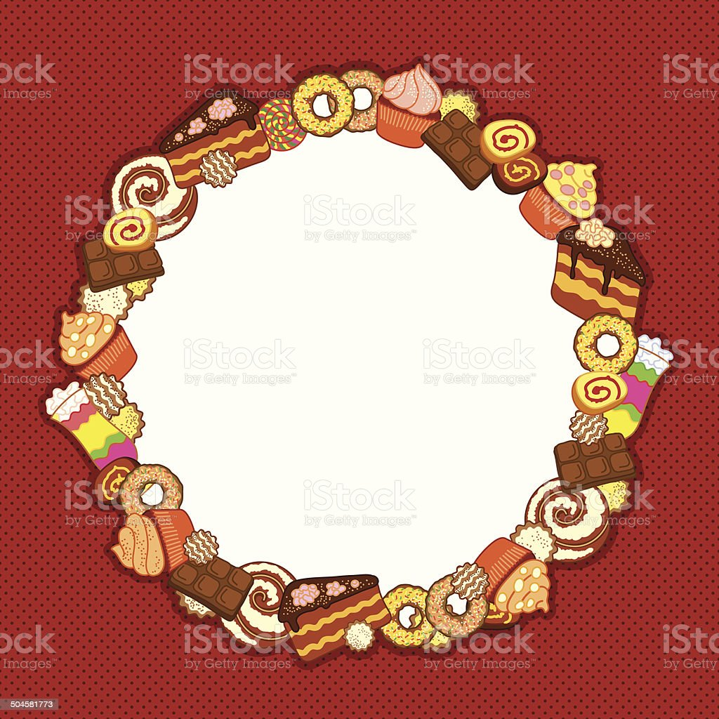 Background with confectionery royalty-free stock vector art