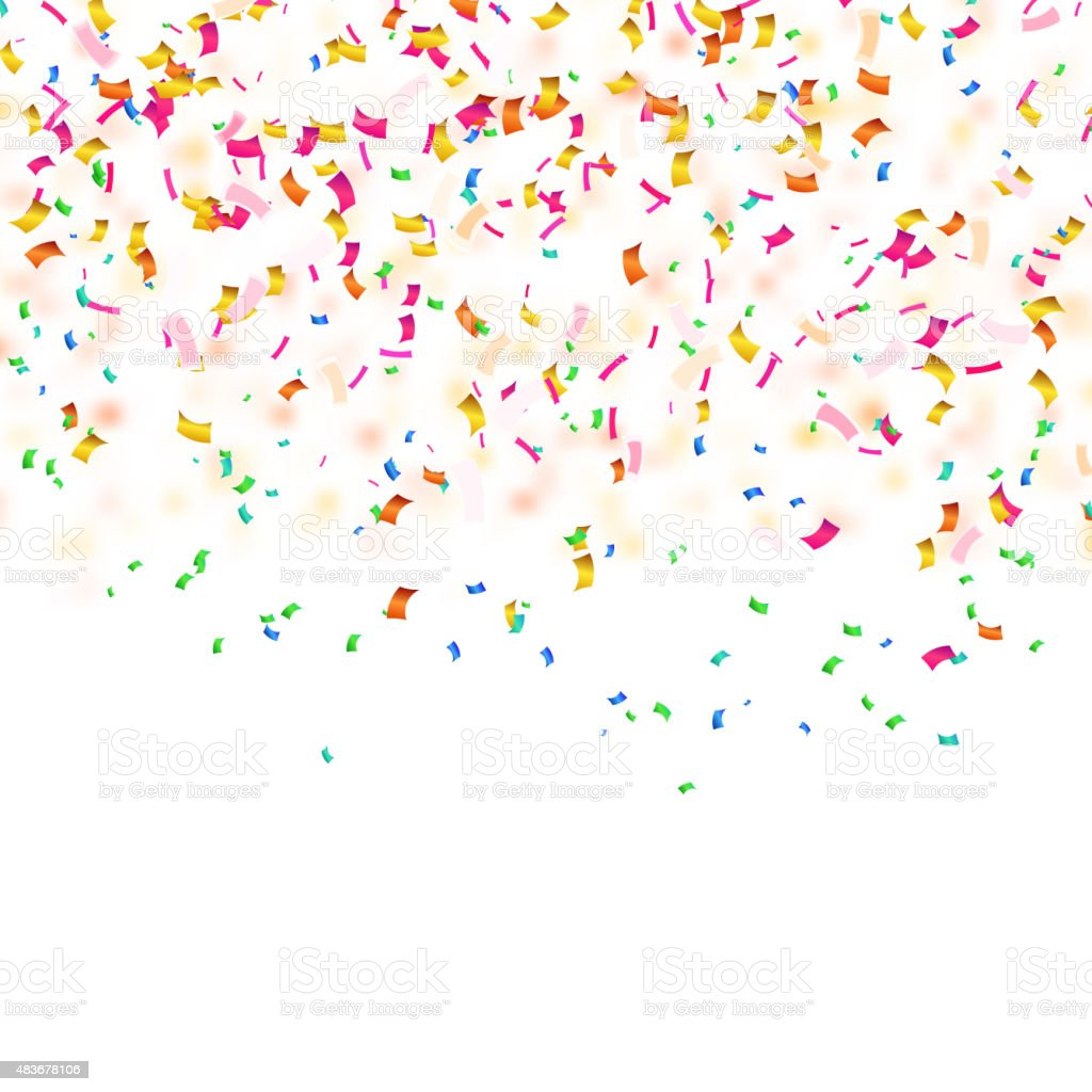 Background with confetti. Sample for your festive design. Vector vector art illustration