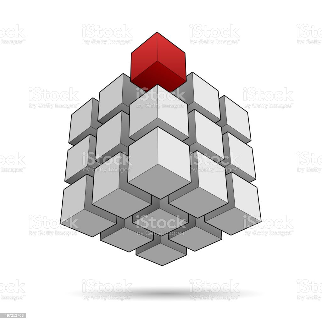 Background with cubes royalty-free stock vector art