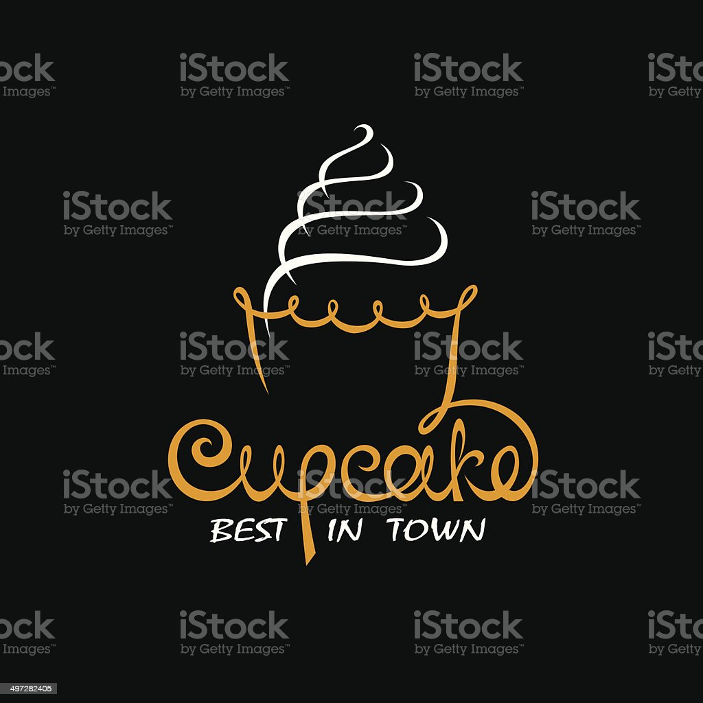 background with cupcake vector art illustration