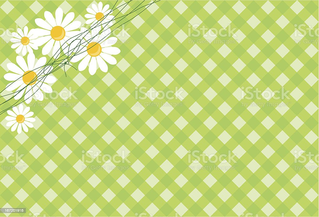 background with daisies royalty-free stock vector art