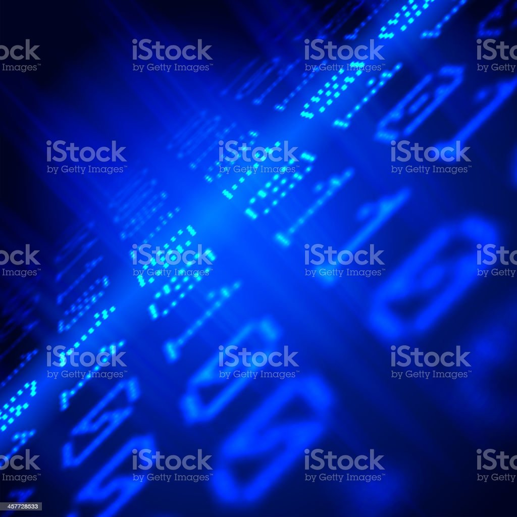 Background with digits royalty-free stock vector art