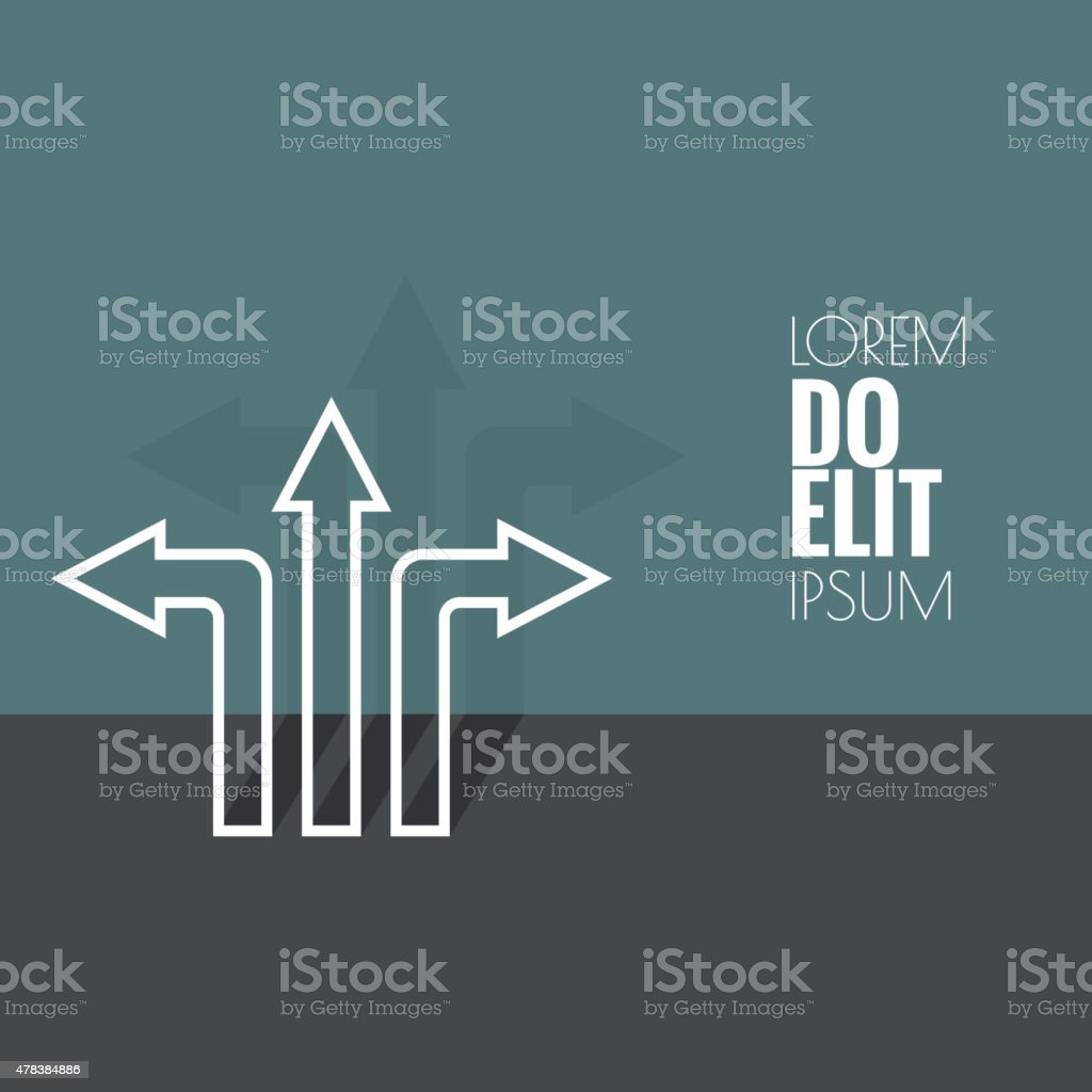 Background with direction arrow sign vector art illustration