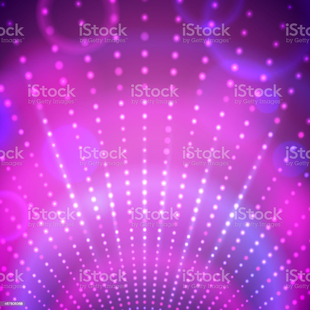 Background with disco lights. vector art illustration