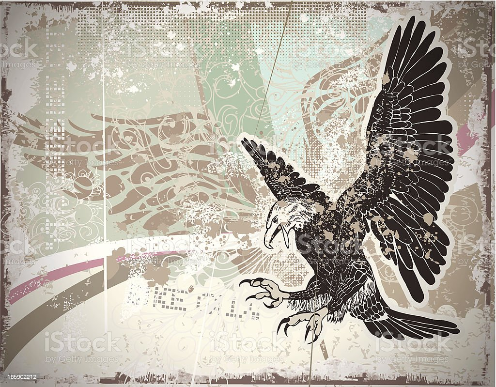 Background with Eagle royalty-free stock vector art