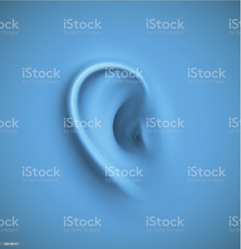 Background with ear vector art illustration