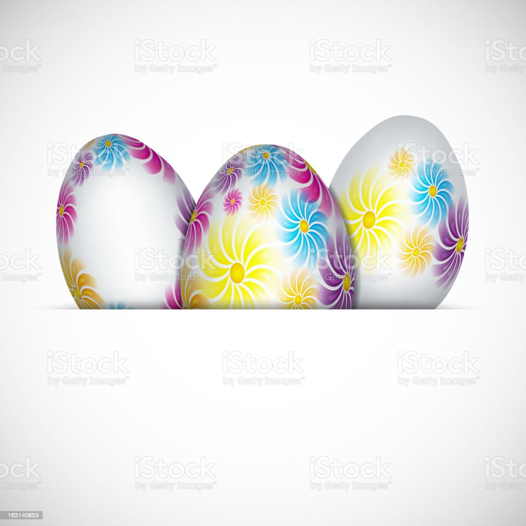 Background with easter eggs royalty-free stock vector art
