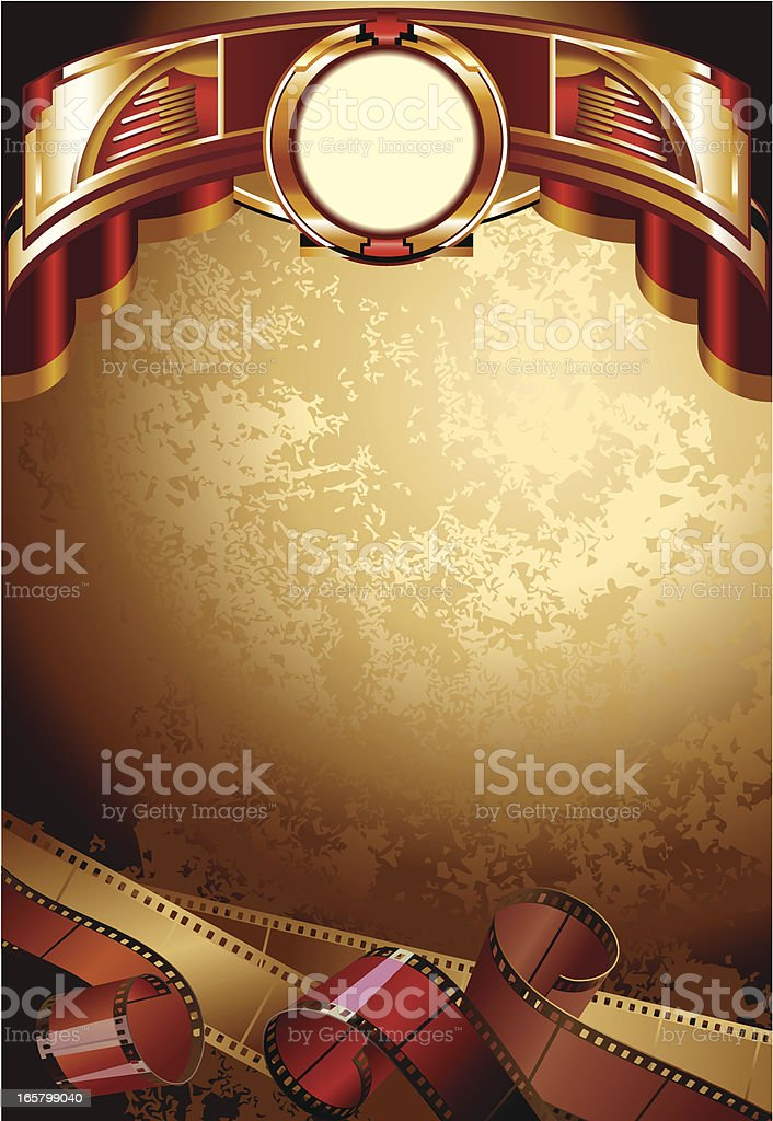 Background with films vector art illustration