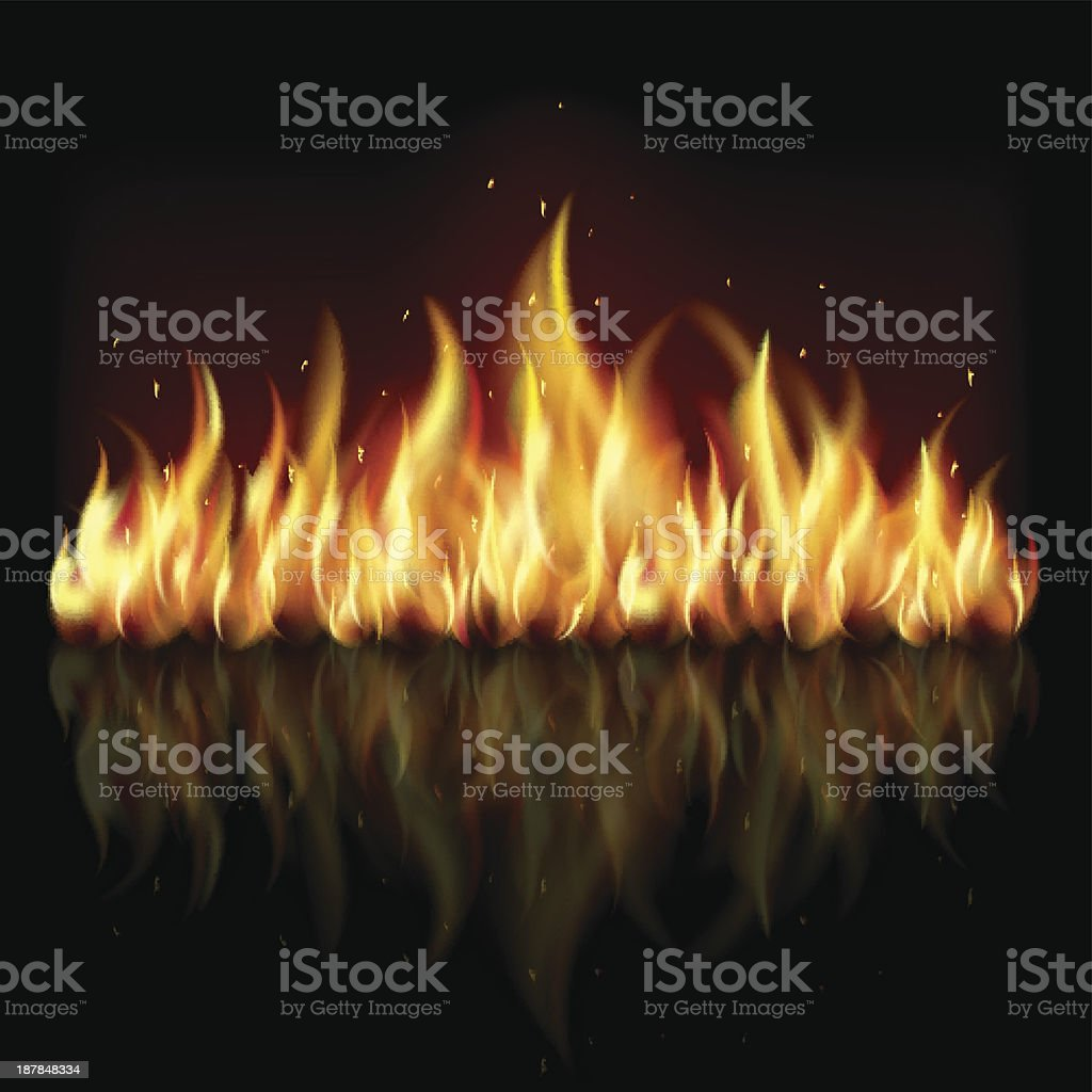 Background with flame. royalty-free stock vector art