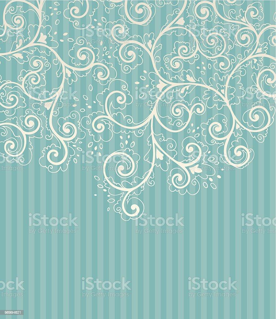 Background with floral decoration elements vector art illustration