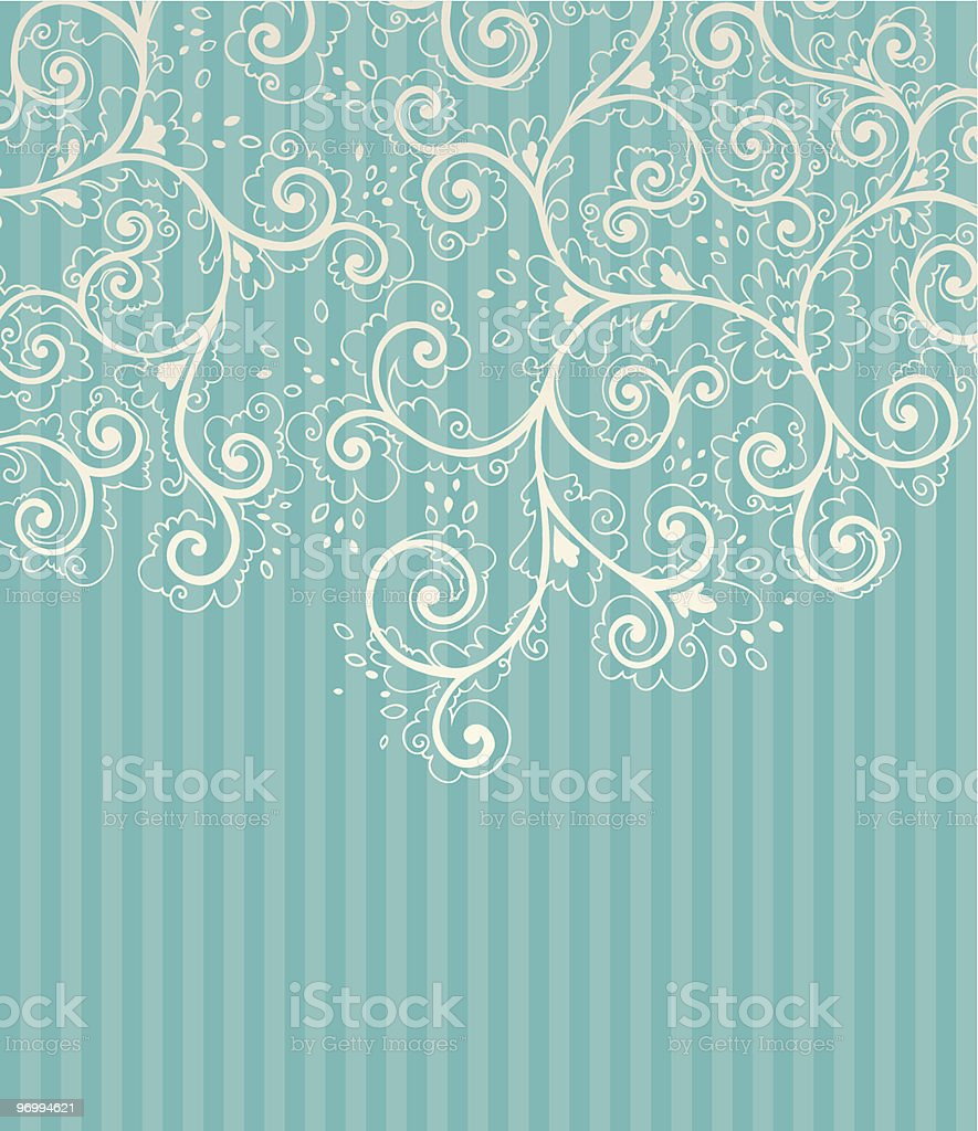 Background with floral decoration elements vector art illustration