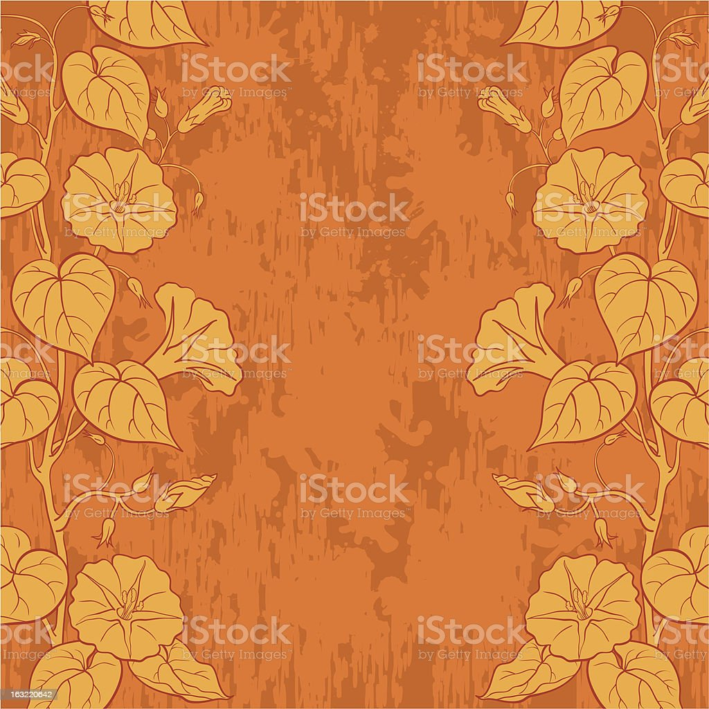 Background with flowers Ipomoea royalty-free stock vector art
