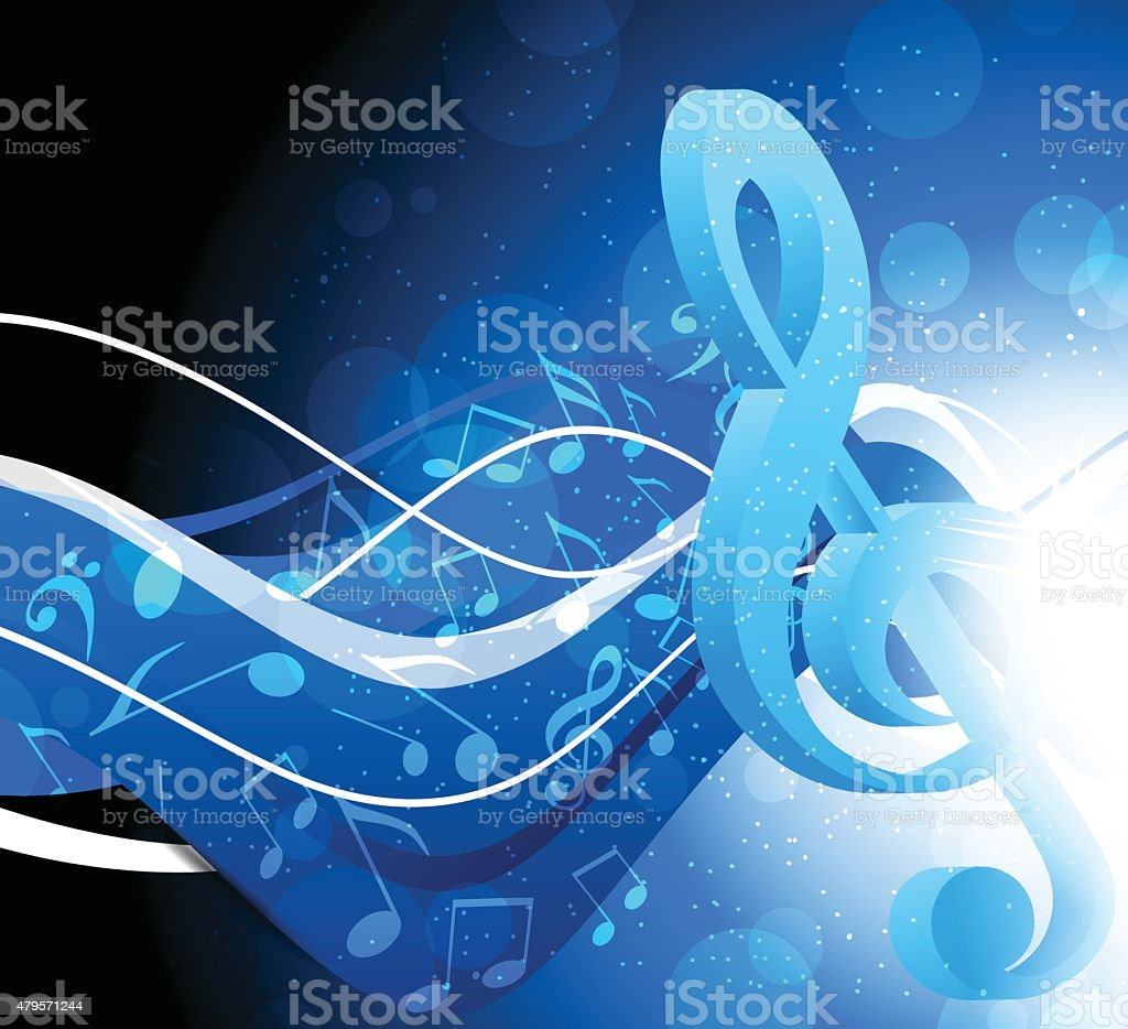Background with g-clef vector art illustration