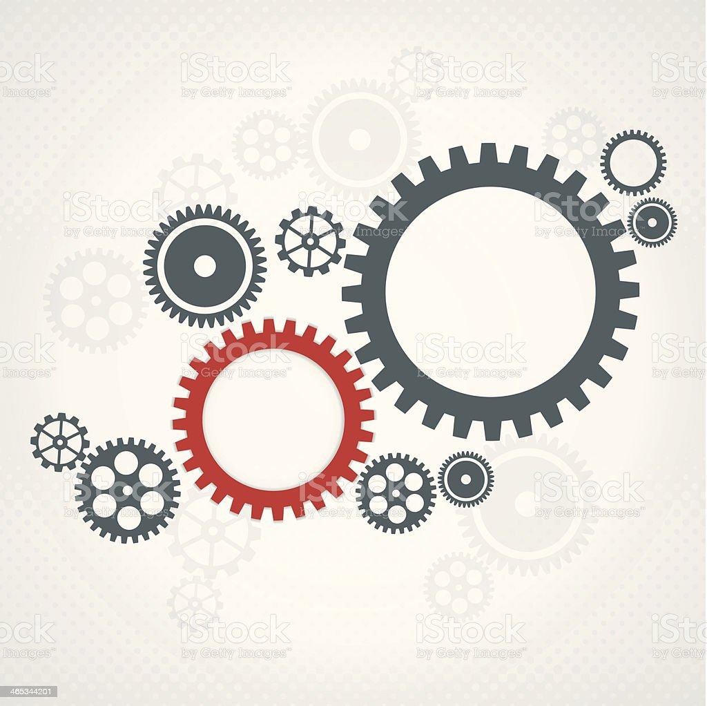 Background with gear wheels. Teamwork concept. vector art illustration