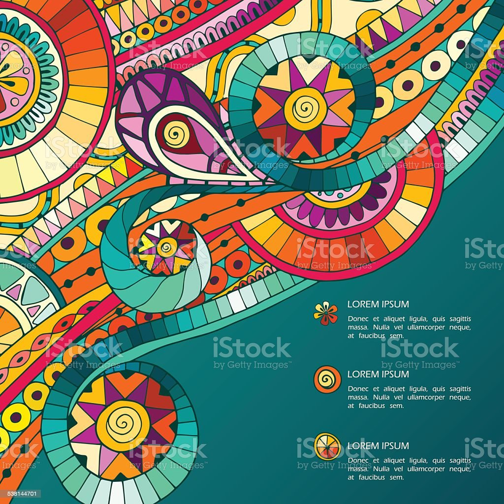 Background with geometric mosaic elements. vector art illustration