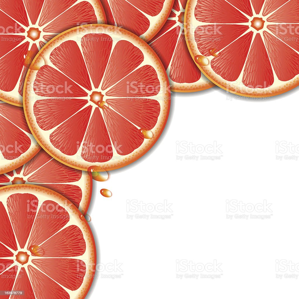Background with grapefruit royalty-free stock vector art