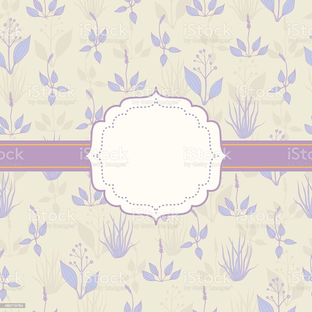 Background with grass in pastel colors vector art illustration
