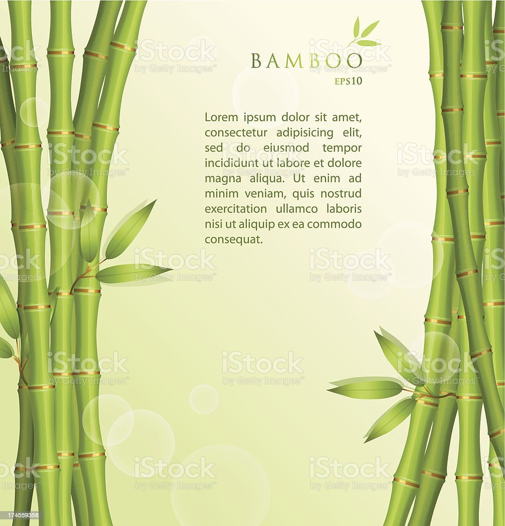Background with green bamboo royalty-free stock vector art