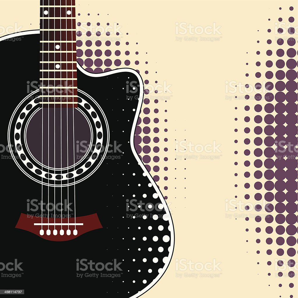 background with guitar royalty-free stock vector art