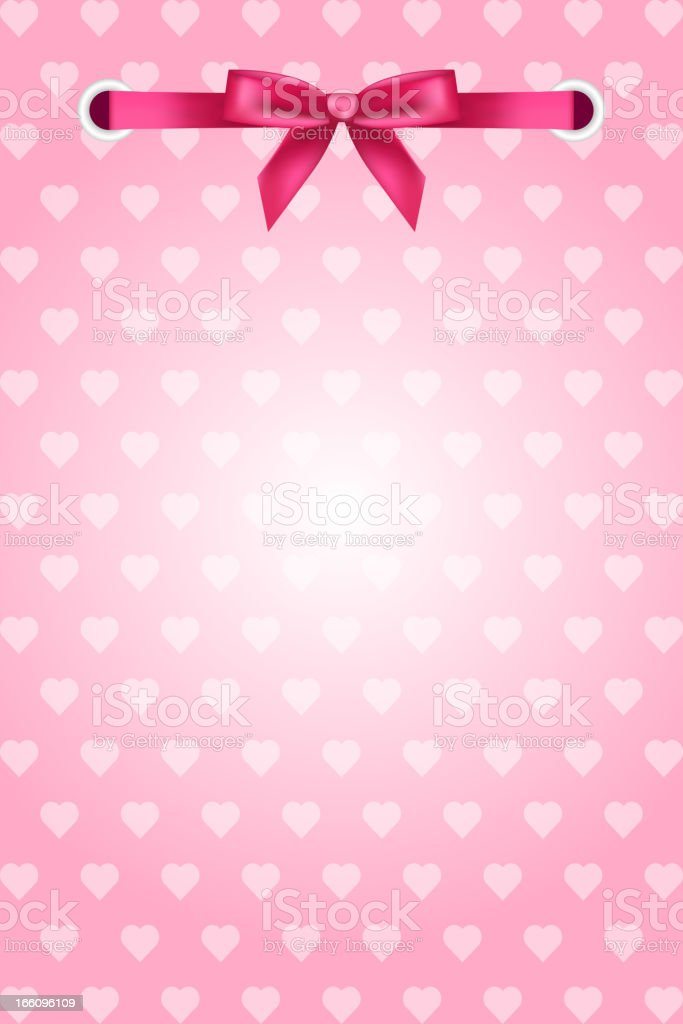 Background with hearts and ribbon royalty-free stock vector art