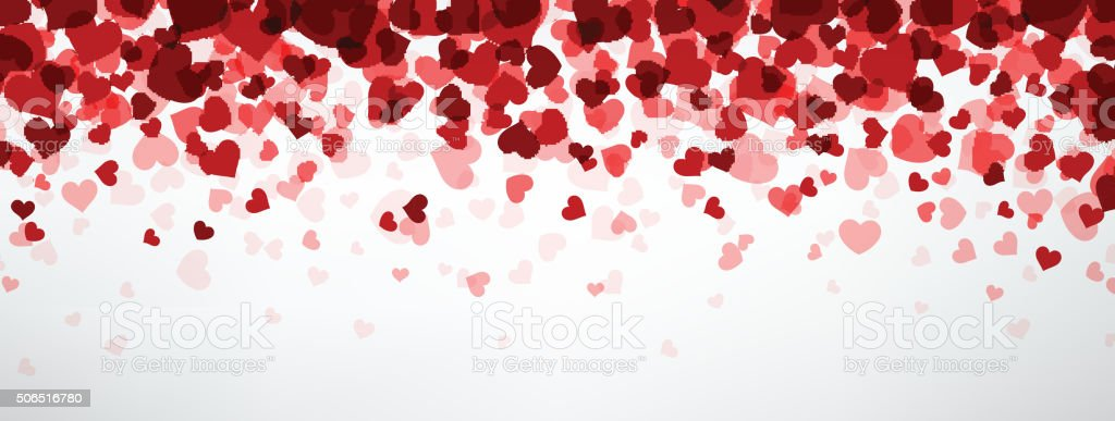 Background with hearts vector art illustration