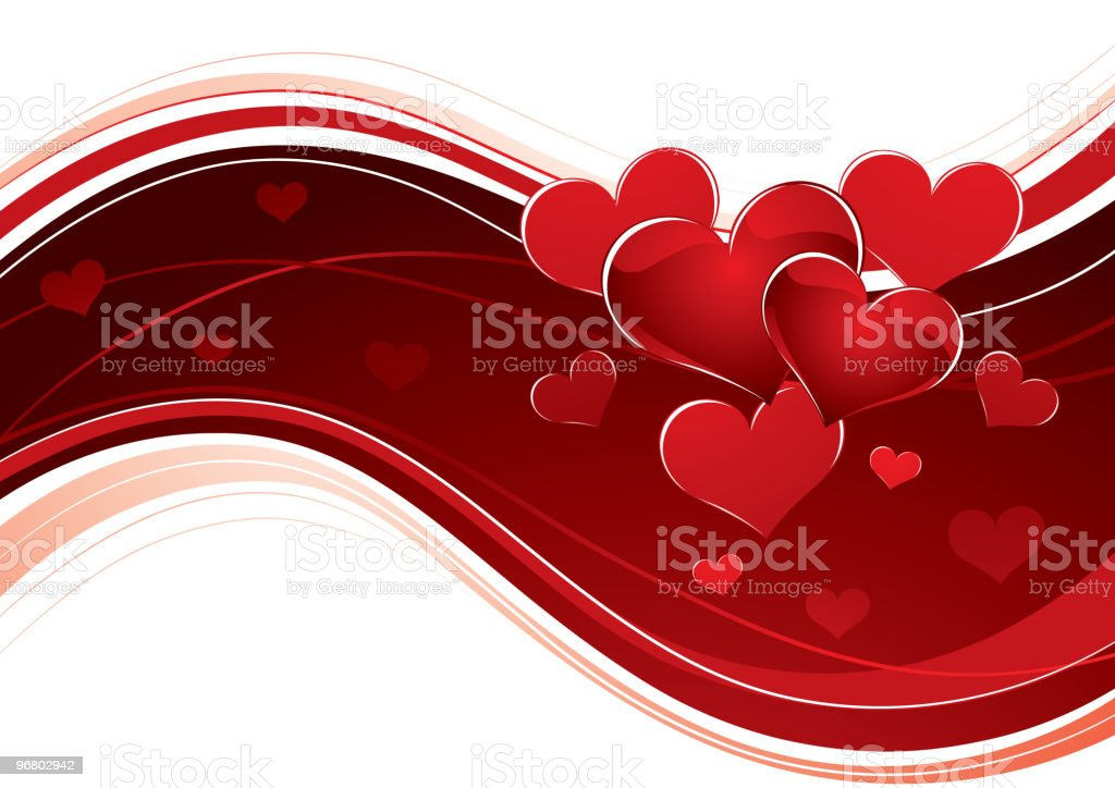 Background with hearts royalty-free stock vector art