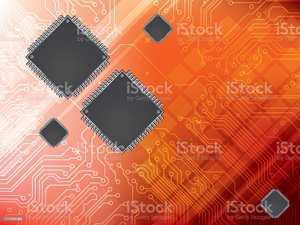 Background with integrated circuit royalty-free stock vector art