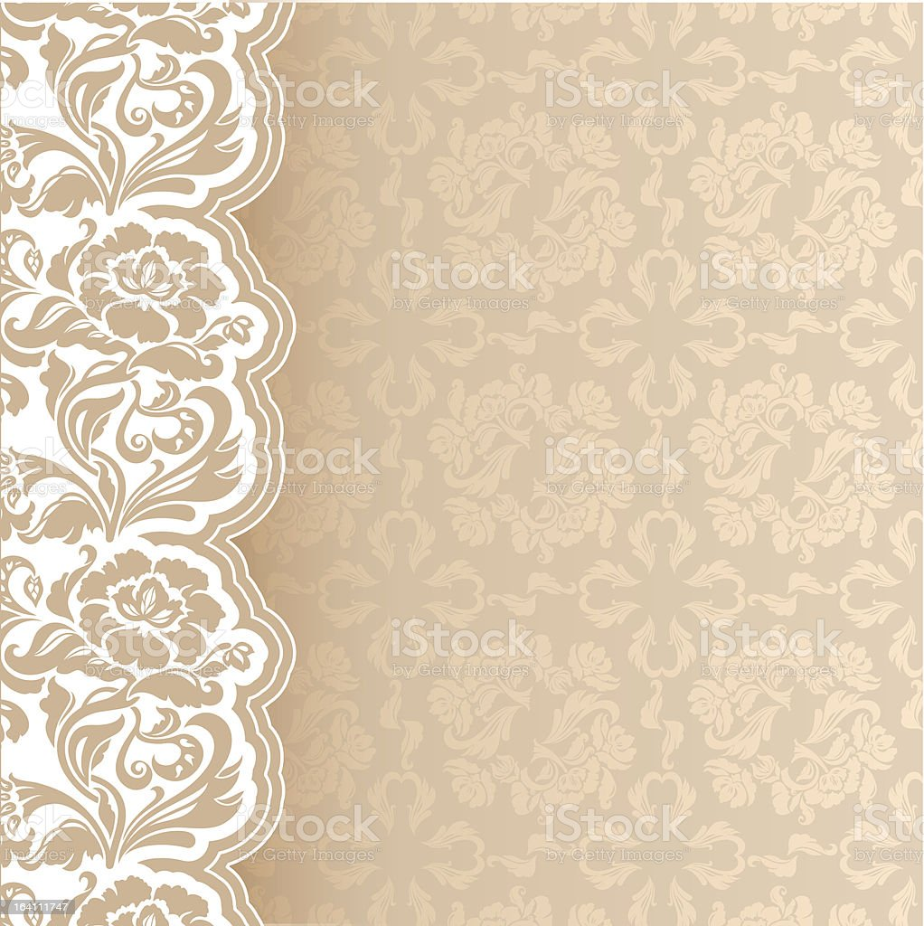 Background with lace, square sheet royalty-free stock vector art