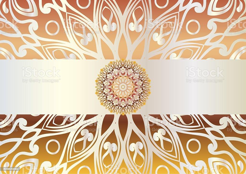 background with mandala vector art illustration