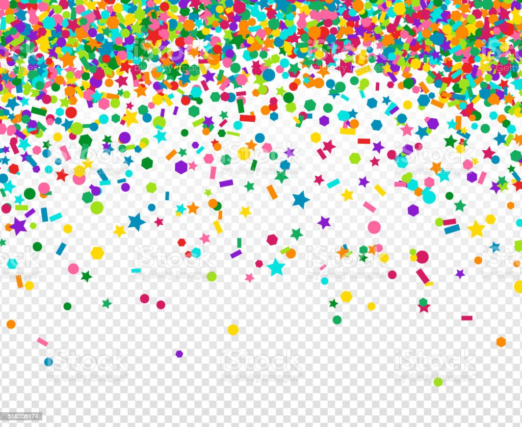Background with many falling tiny confetti vector art illustration