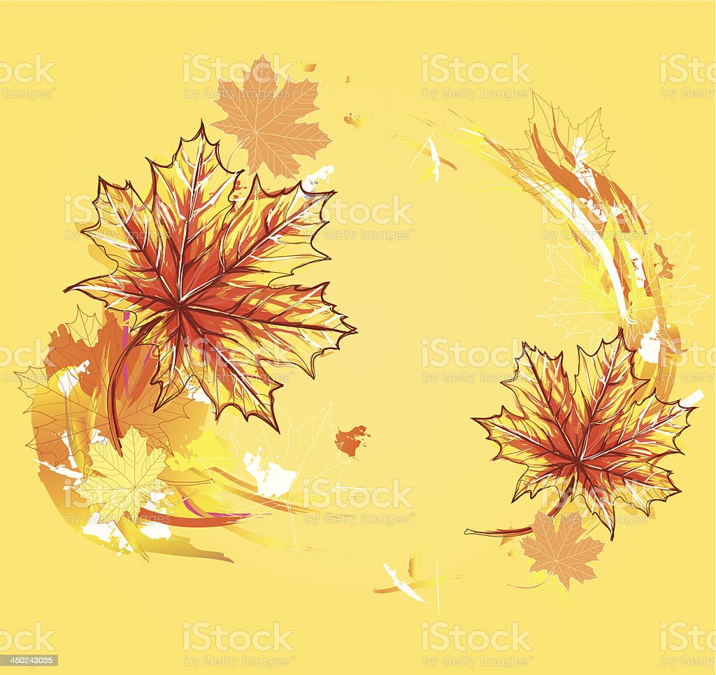Background with maple leafs. royalty-free stock vector art