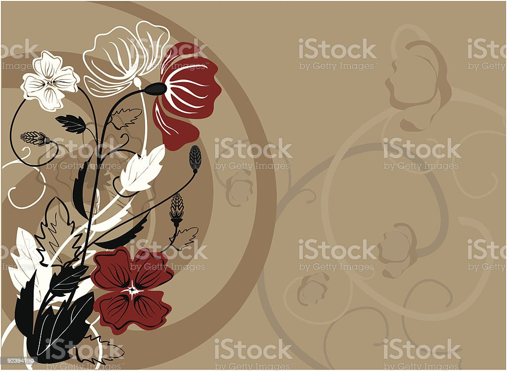 Background with meadow plants royalty-free stock vector art