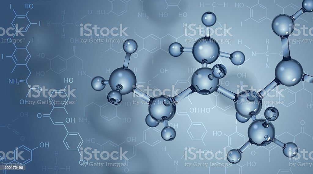 Background with molecules vector art illustration