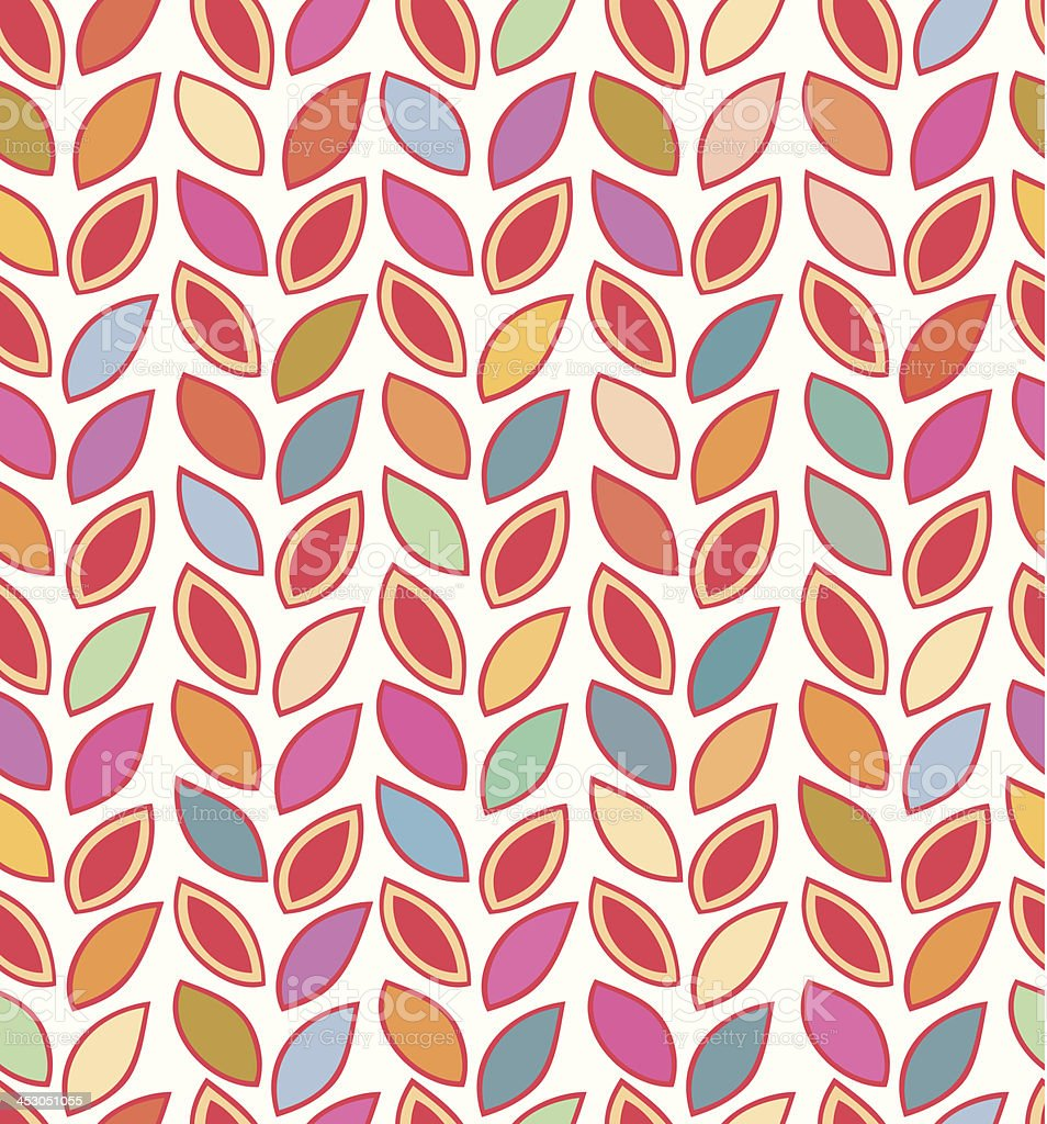 Background with multicolor rows of leafves royalty-free stock vector art