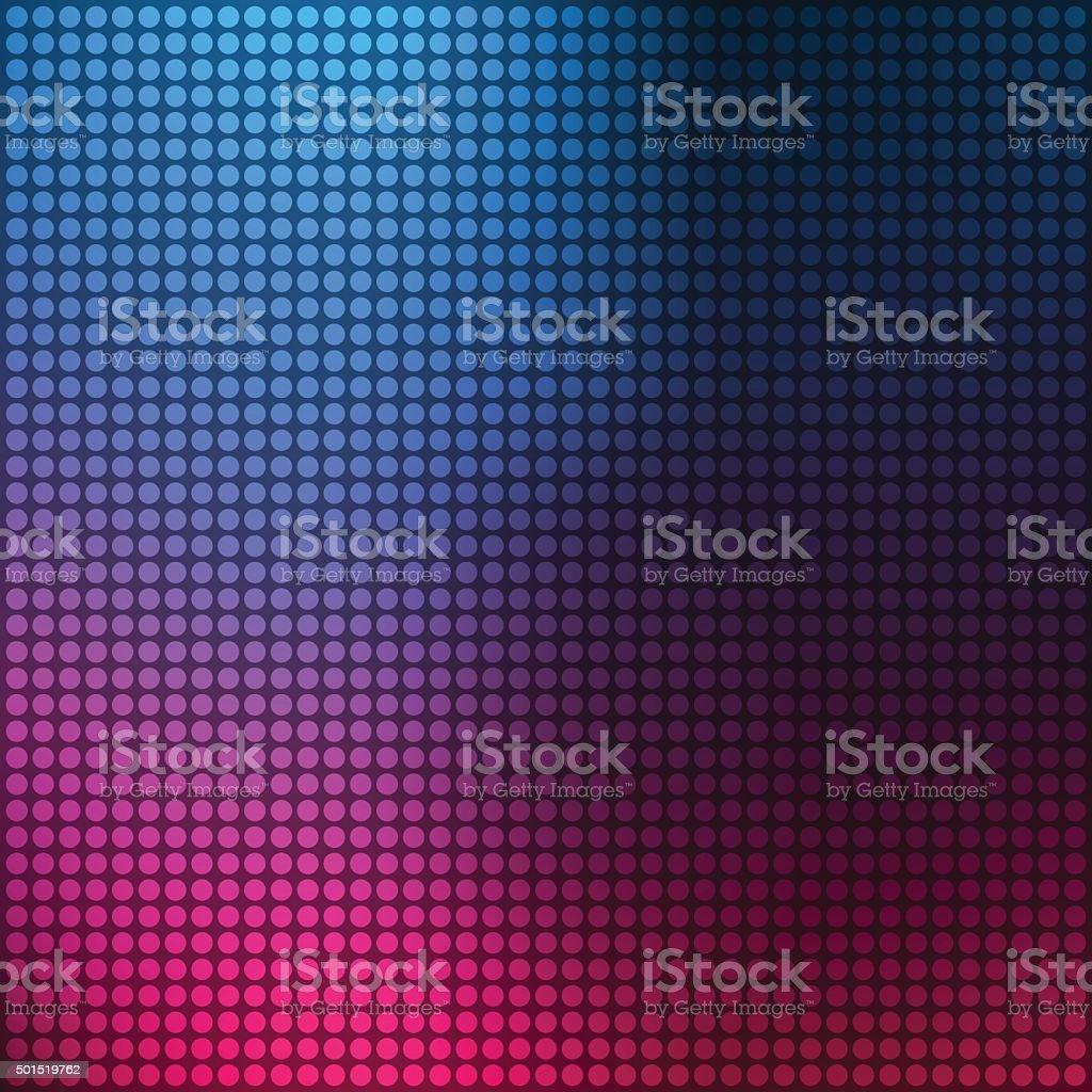 Background with multicolored dots vector art illustration