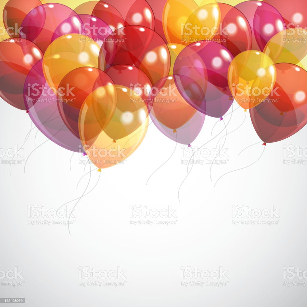 background with multicolored flying balloons royalty-free stock vector art