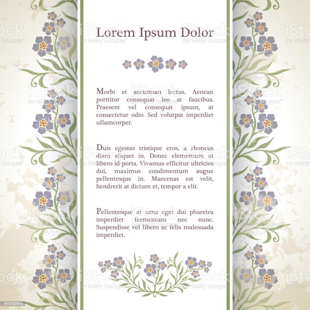 Background with myosotis flowers. vector art illustration