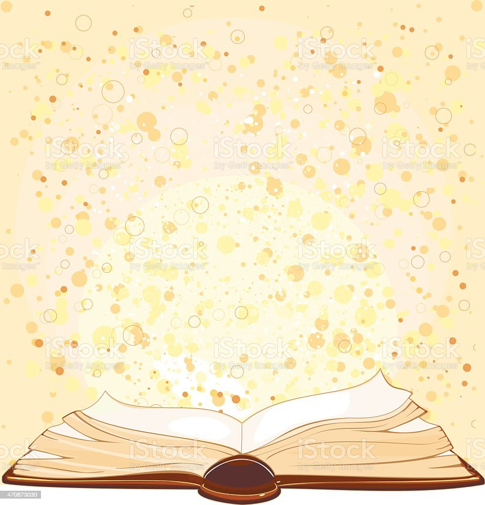Background with open book vector art illustration