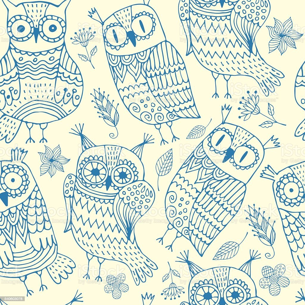 background with owls royalty-free stock vector art