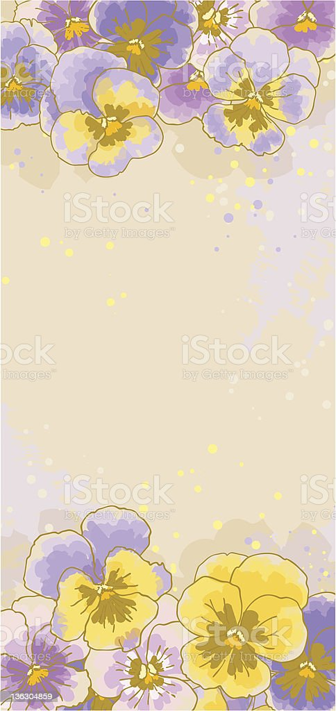 Background with pansy royalty-free stock vector art