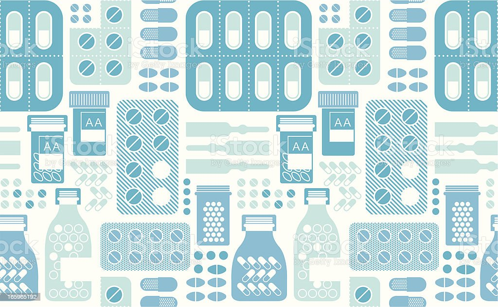 Background with pills royalty-free stock vector art