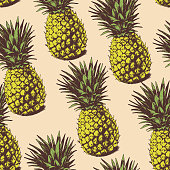 Background with  pineapples