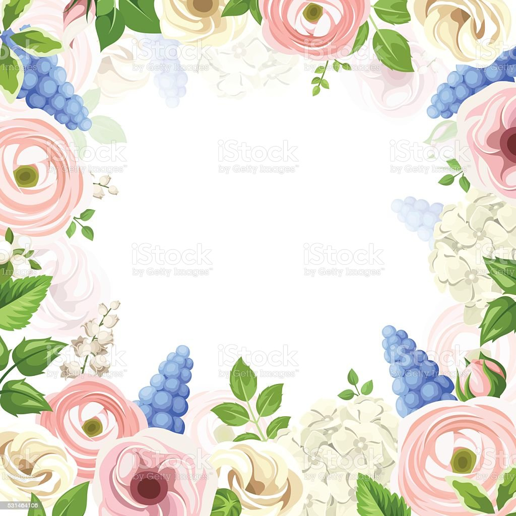 Background with pink blue and white flowers vector illustration background with pink blue and white flowers vector illustration royalty free stock dhlflorist Image collections