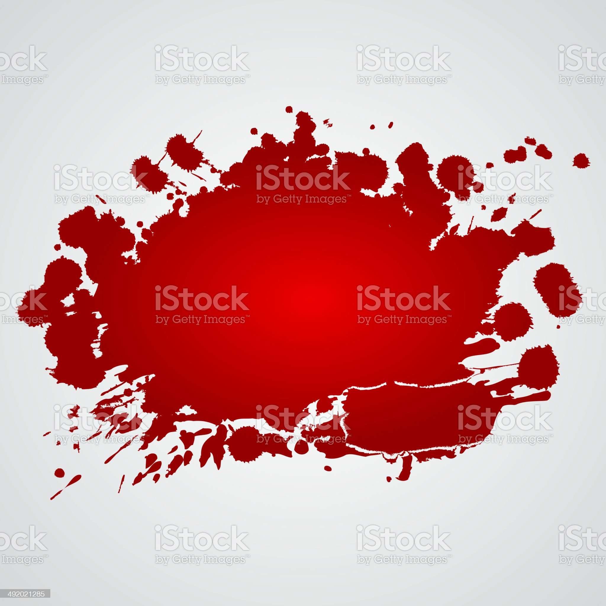 Background with red splashes royalty-free stock vector art