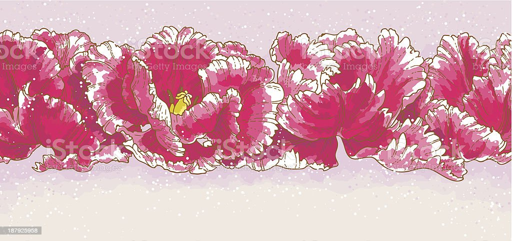 Background with red tulips royalty-free stock vector art