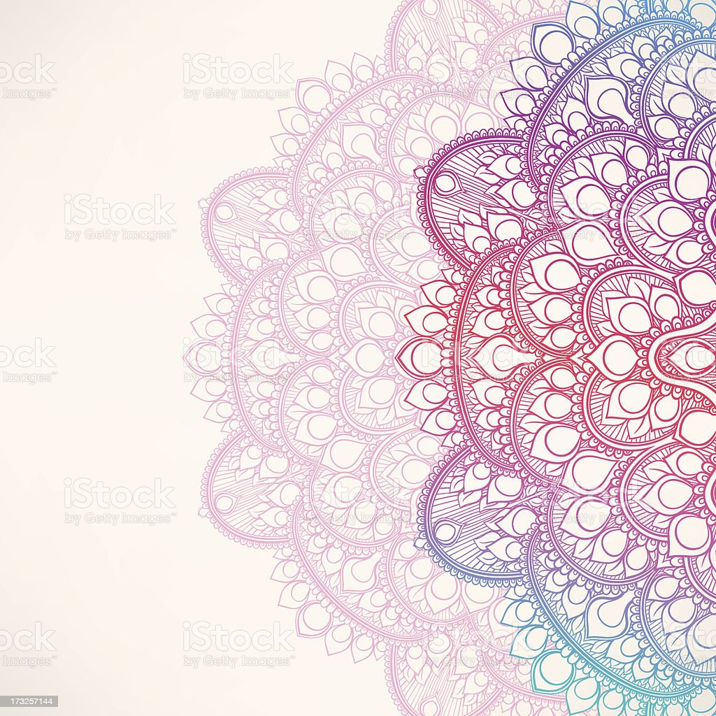 background with round leaf pattern royalty-free stock vector art